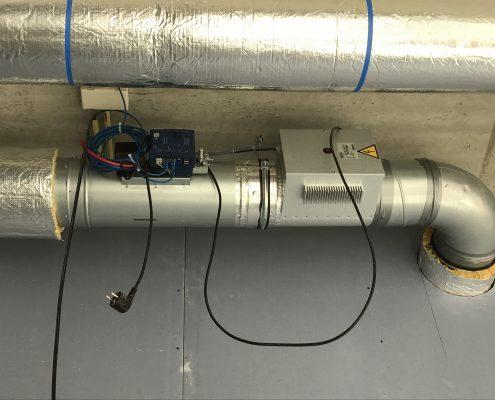 Ronde VAV met Electrische heater